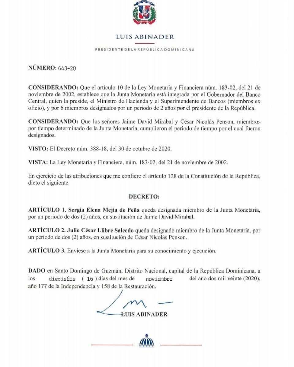 Decreto Sergia Elena