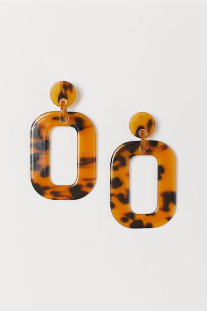 Large Resin Tortoiseshell Earrings - H&M - £9.99