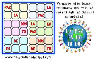 Soduku, Sudoku 6x6, Semana por la paz