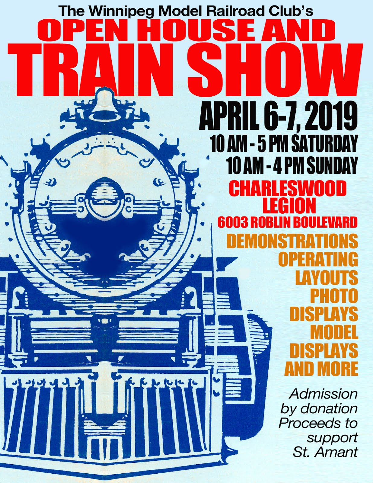 COME TO OUR TRAIN SHOW IN APRIL!