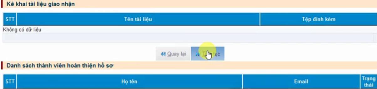 Hình 10 - Nhấn tiếp tục để xác nhận đăng ký thay đổi thông tin chữ ký số Viettel-CA