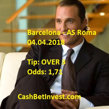 Barcelona - AS Roma 04.04.2018 - Cash Bet Invest