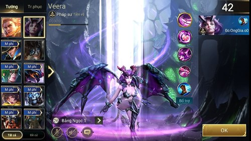 Bảng khả năng điển hình của Veera