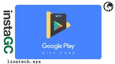 ربح بطاقات جوجل بلاي مشحونة مجانا عبر موقع instaGC