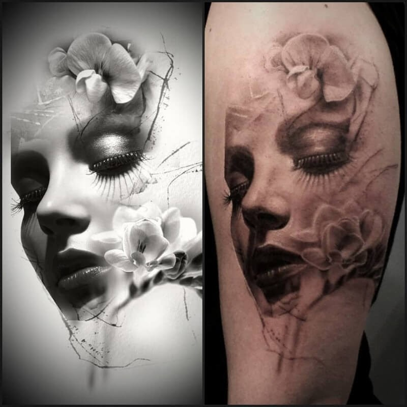 02-Glen-Preece-Paintings-and-tattoos-Side-by-Side-www-designstack-co