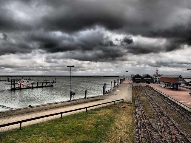 Langeoog, Hafen, Nordsee, Watt, Olympus, Dramatic Tone