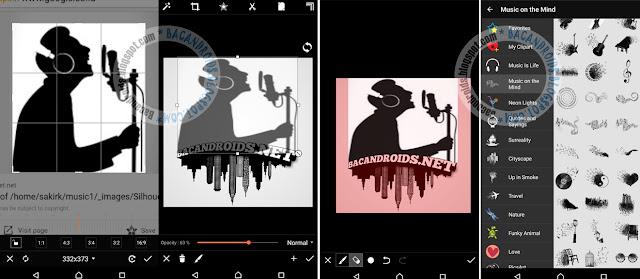 Font Huruf tiga dimensi Full Color Dengan PicsArt