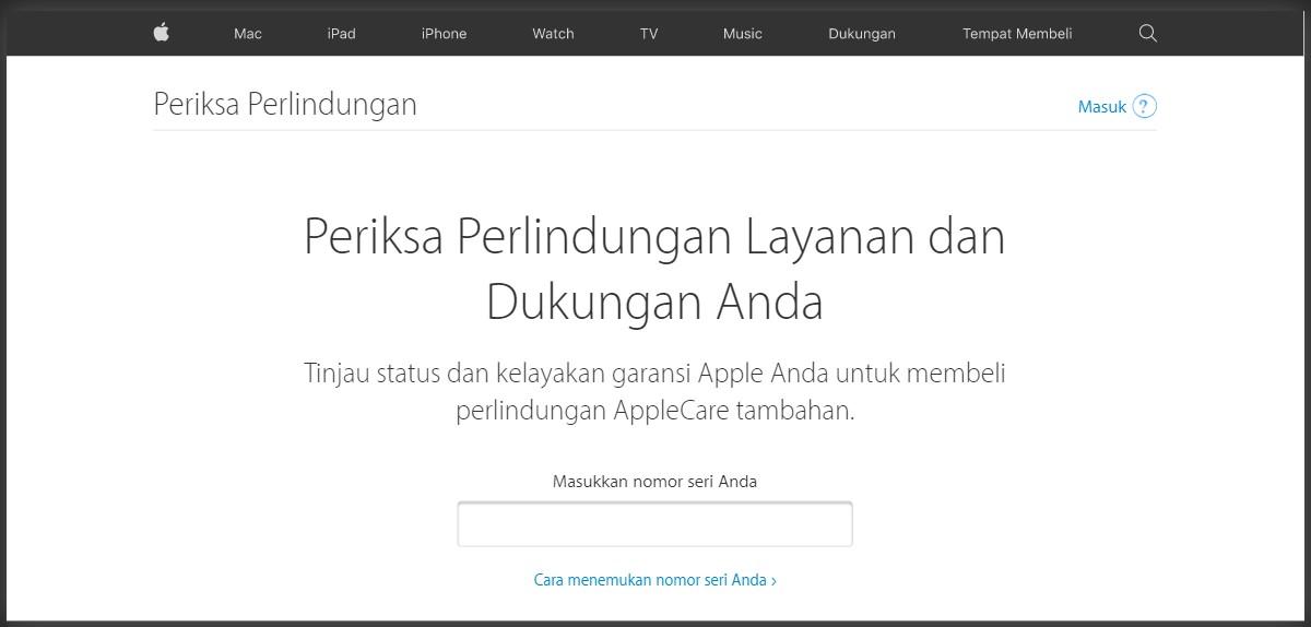 Cek garansi resmi IMEI iPhone