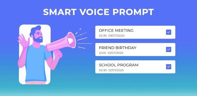 قم بتنزيل Smart Voice Prompt Reminders 1.0.1 - برنامج إنشاء الإشعارات الصوتية المخصصة لنظام الاندرويد