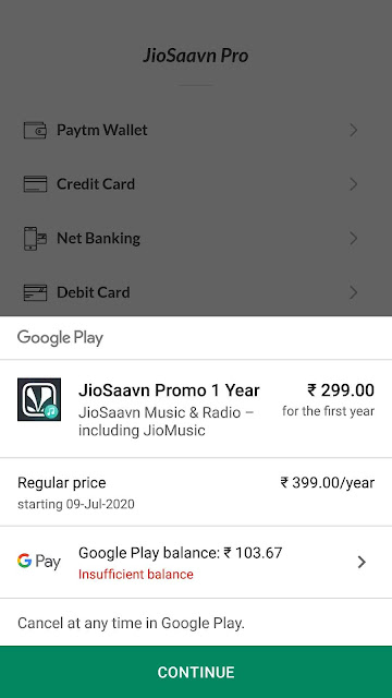 Tip For Free Jiosaavn Membership With Google