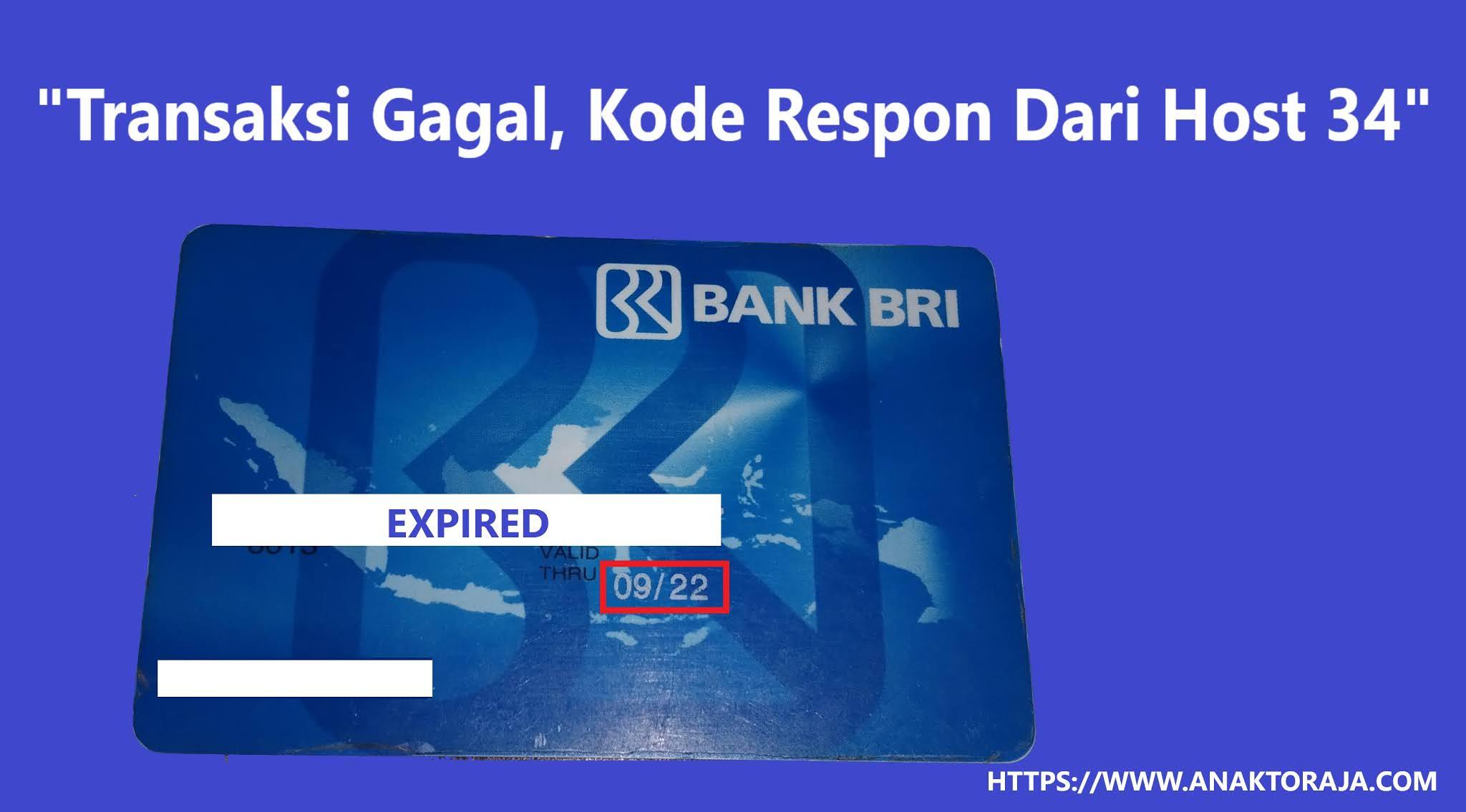 Cara Mengatasi Kode Error Host 34 ATM BRI