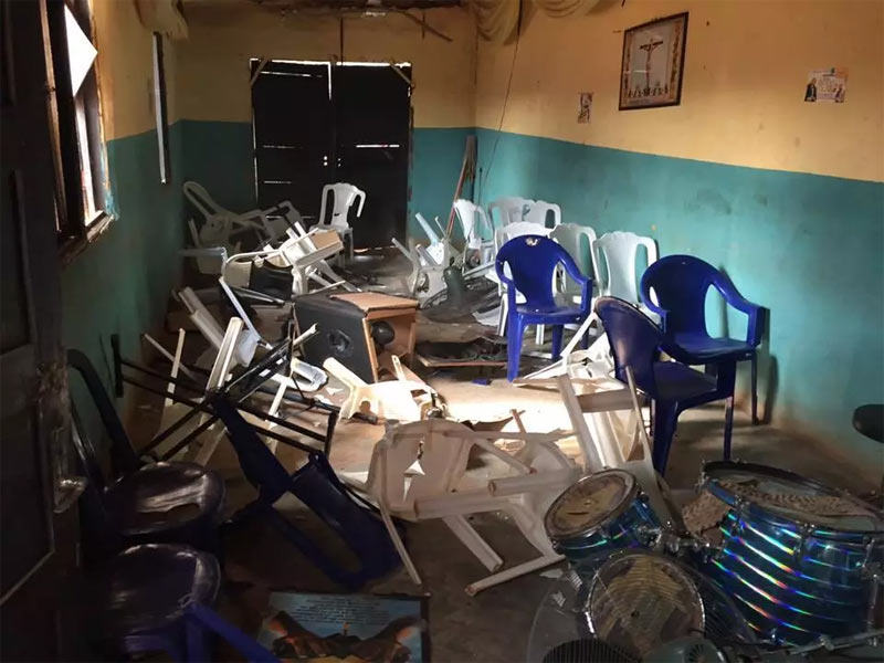 Charms discovered as mob destroys church in Benin after pastor slept with married women