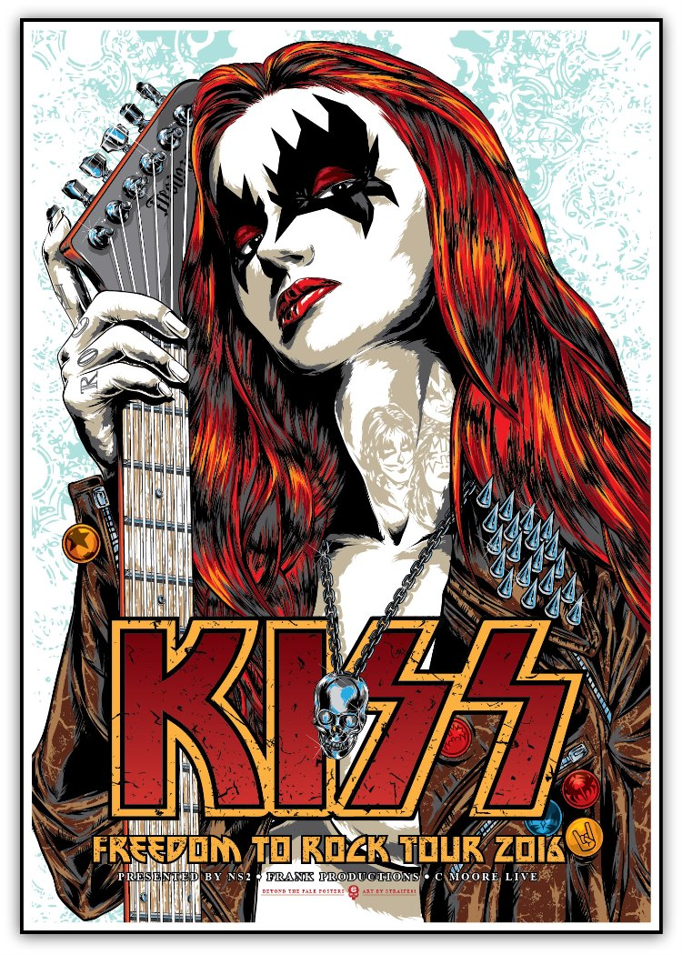 Inside the rock poster frame blog kiss freedom to rock for Posters art prints