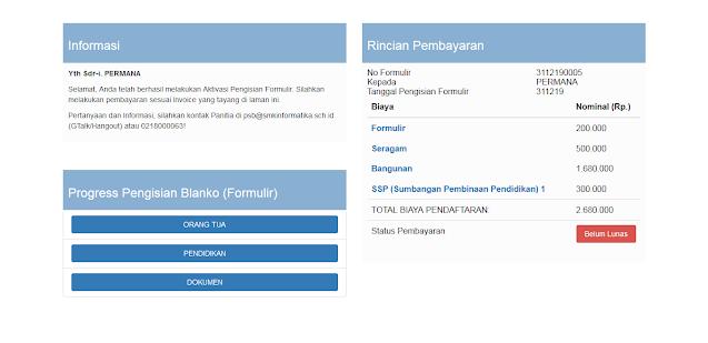 Web PHP Pendaftaran Siswa Baru Sekolah SMK