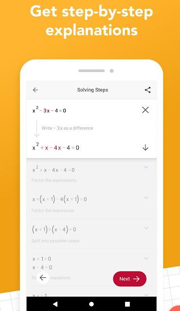 تحميل برنامج حل معادلات الرياضيات بمجرد تصويرها بكاميرا موبايلك ..