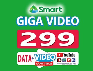Smart Giga Video 299 – 4GB Data, Free YouTube up to 30 Days