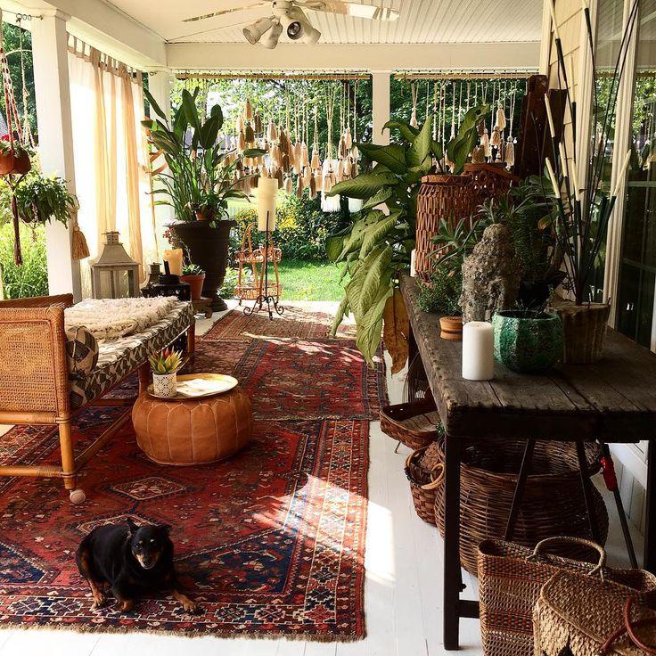 Boho Farmhouse Sunroom