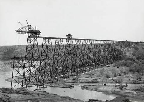 Lethbridge Viaduct Construction