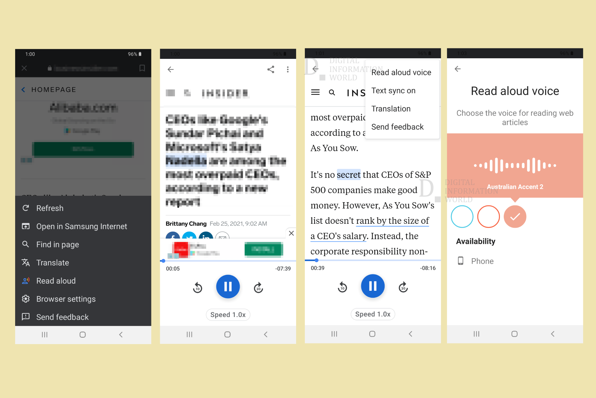 Google Search App's Read Aloud Feature Now Has Multiple Accents