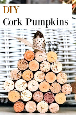 Wine cork pumpkin pin