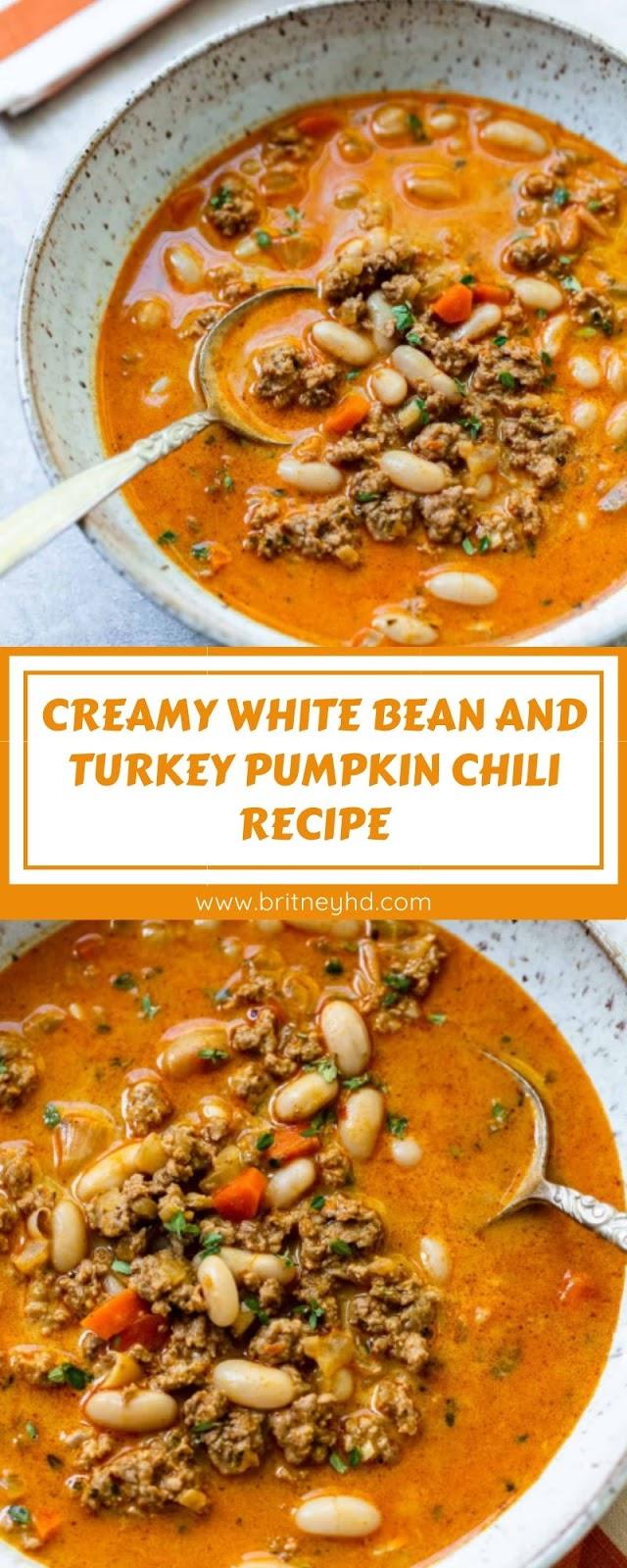 CREAMY WHITE BEAN AND TURKEY PUMPKIN CHILI RECIPE