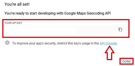 Get The API Key