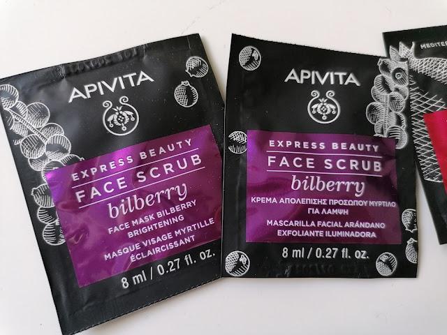 Apivita face scrub bilberry