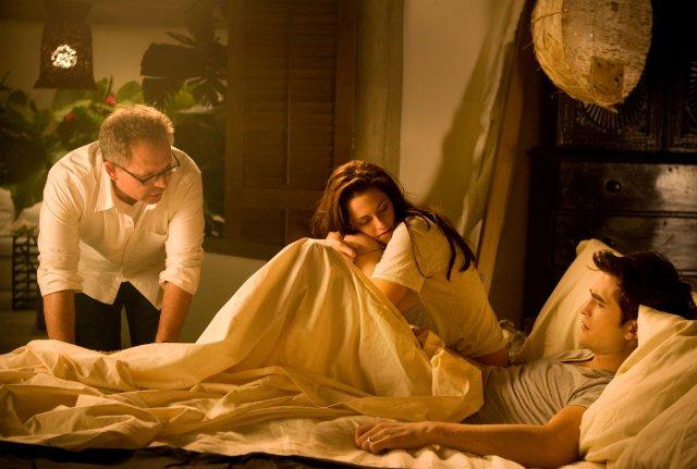 Train Bellies: In bed: Kristen Stewart and Robert Pattinson