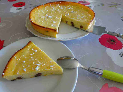 gâteau pâtisserie fondant à l'orange et aux raisins