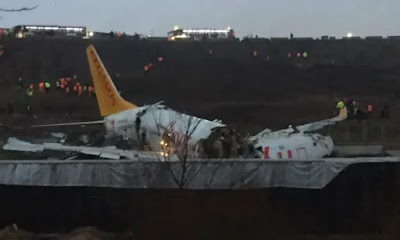 Video: Plane With 177 Passengers Splits Into Three Pieces