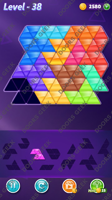 Block! Triangle Puzzle Grandmaster Level 38 Solution, Cheats, Walkthrough for Android, iPhone, iPad and iPod