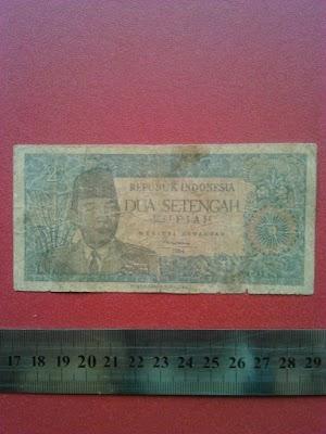 2 1/2 rupiah tahun 1964