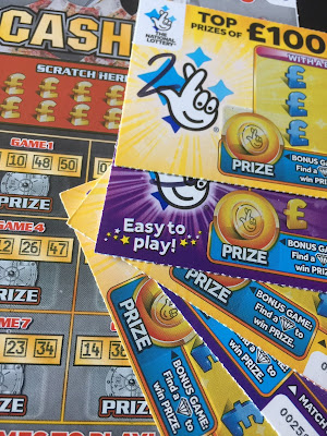 Yellow, Purple and Cash Vault National Lottery Tickets