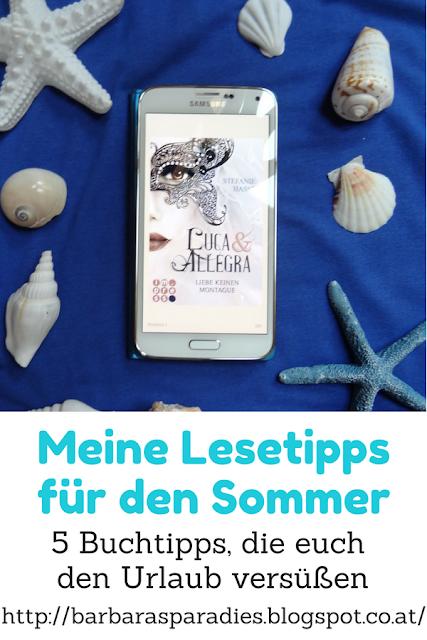 Meine Lesetipps für den Sommer: 5 Buchtipps, die euch den Urlaub versüßen  - Luca & Allegra 1: Liebe keinen Montague von Stefanie Hasse