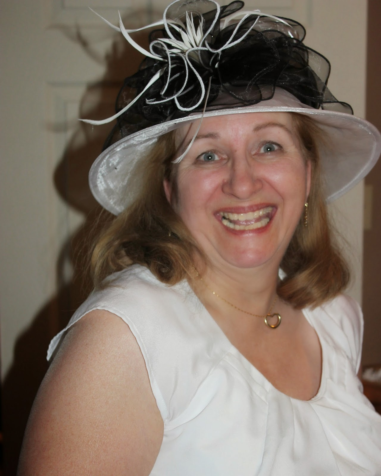 black and white hat, organza hat, how to wear, fancy hat, dressy hat