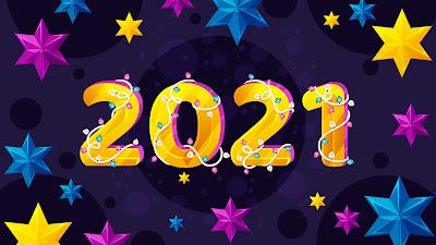 Happy New Year 2021 stars background