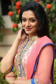 Actress Vimala Raman Stills in Beautiful Pink Salwar Kameez at (ONV) Om Namo Venkatesaya Press Meet  0168.JPG