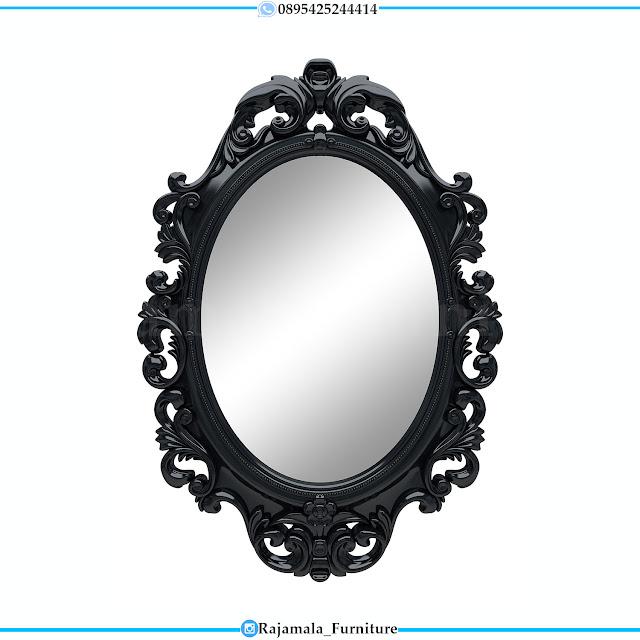Cermin Hias Jepara Luxury Carving Black Duco Color Edition RM-0399