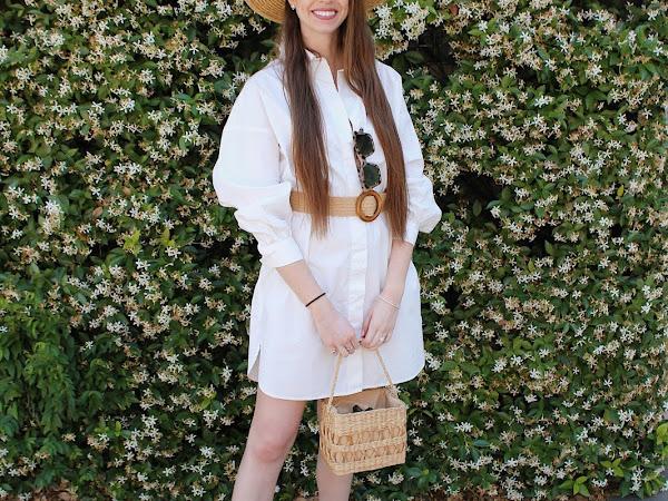 Resort White Shirt Dress