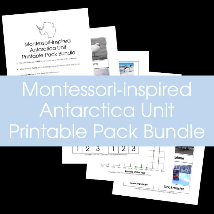 Montessori-inspired Antarctica Unit Printable Pack Bundle