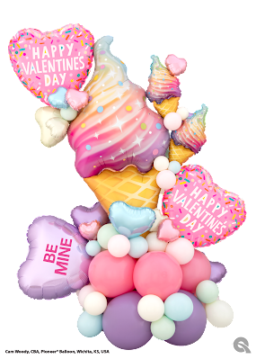 """Sweets For My Sweet"" design created by Cam Woody, CBA, Pioneer Balloon Company, Wichita, KS, USA."