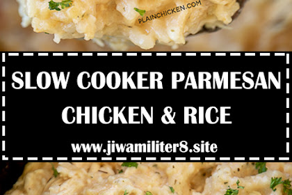 SLOW COOKER PARMESAN CHICKEN & RICE