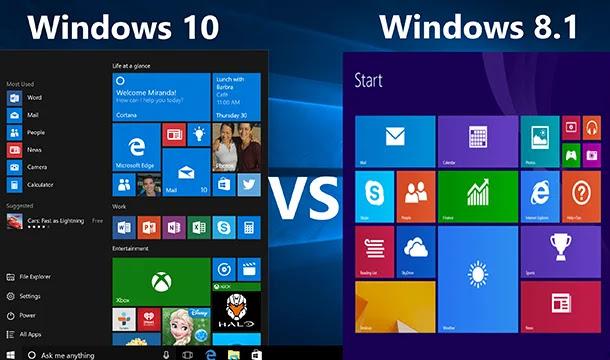 Windows 10 vs Windows 8.1: quel est le meilleur pour vous?