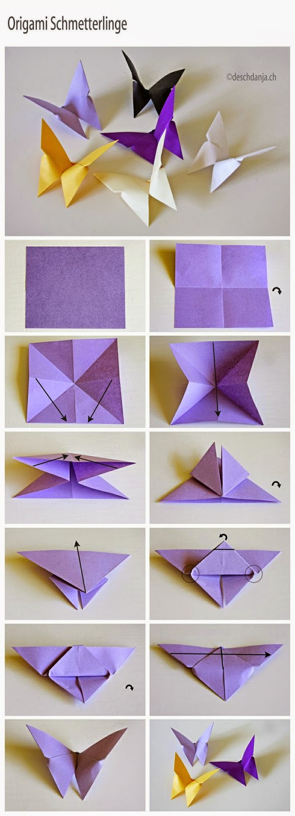 Tutorial origami fluture
