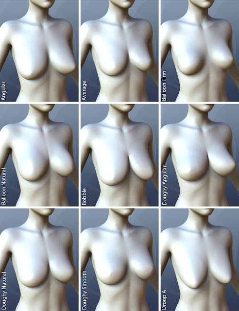 Natural Breast Shapes for Genesis 3 Female