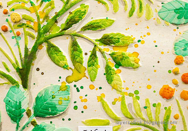 Layers of ink - Watercoloring a dry embossed background tutorial by Anna-Karin Evaldsson.