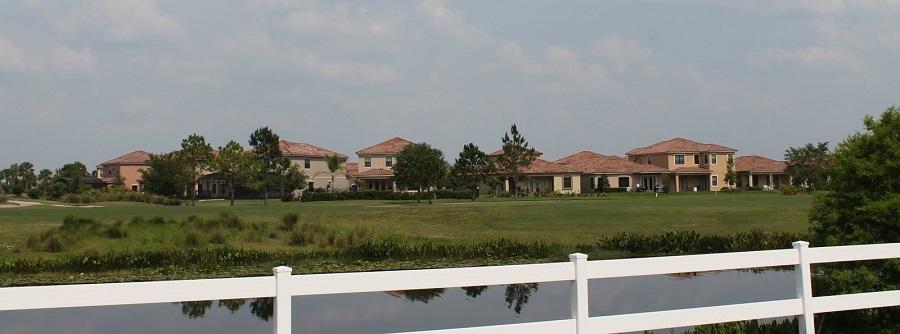 Campos de golf y urbanizaciones en Lake Nona