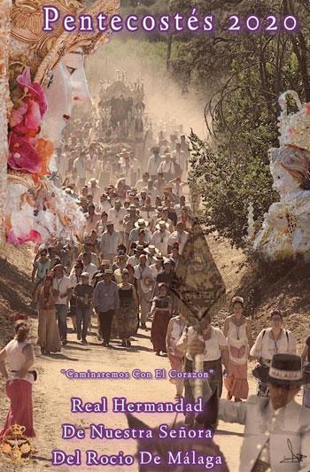 "The Brotherhood of El Rocío in Malaga has made its poster of El Rocío ""Pentecostés 2020"""