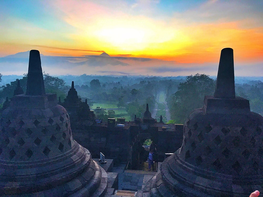 Crystal Phuong- What to do in Yogyakarta- Borobudur temple