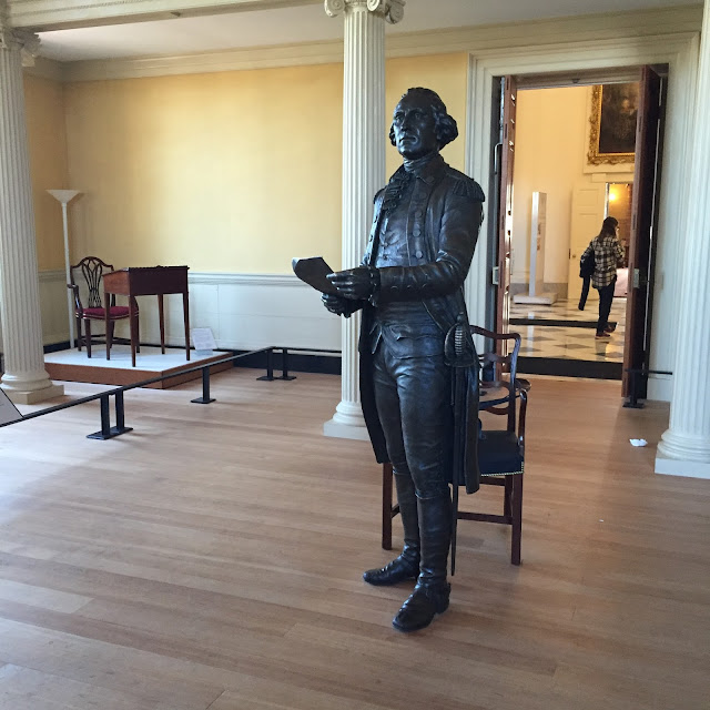 General Washington giving his address resigning his military commission at the Maryland State House